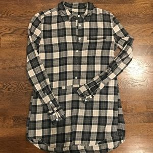 J. Crew plaid flannel tunic xxs